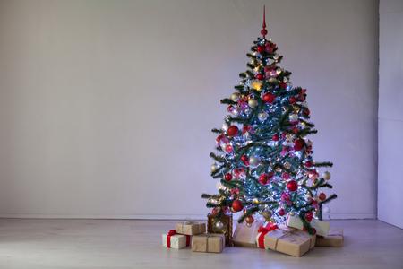 new year tree christmas decor gifts 2018 2019 stock photo 88886119