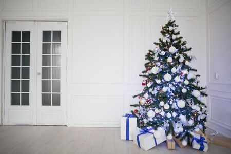 christmasbackground: new year gifts decor Christmas tree
