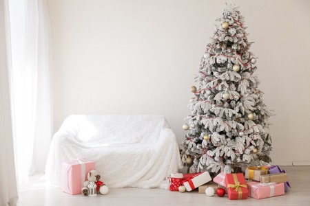 new year and Christmas tree holidays gifts