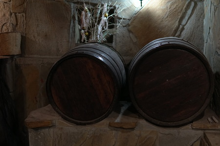 vintage wine cellar cask wine and alcohol