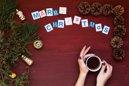 Merry Christmas Christmas greeting gifts holiday Santa Christmas tree cones