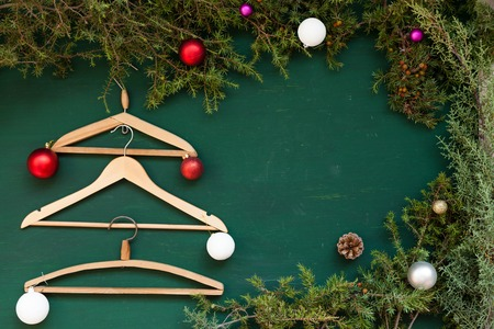 Christmas background clothes hanger gifts decor decoration holiday winter