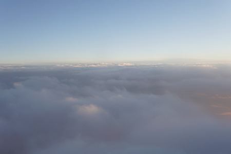clouds at sunset from  plane sky travel Stok Fotoğraf