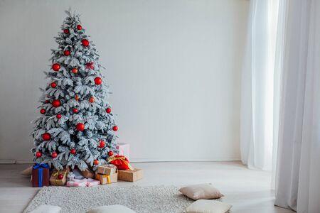 Christmas holidays New Year Family holidays Decorating tree.