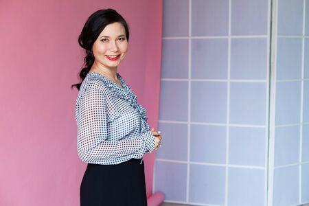 Beautiful business woman Asian business portrait office