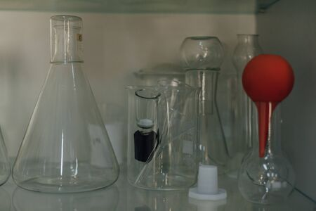 chemical laboratory containers for experiments