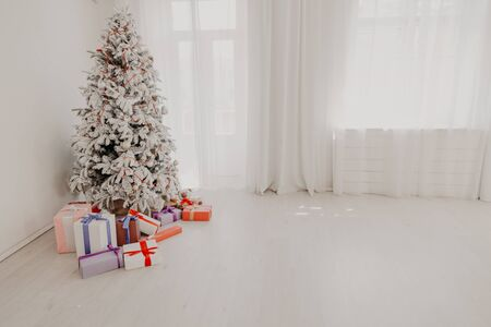 Christmas tree Garland lights new year gifts holiday White House decor 2020