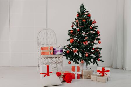 Christmas tree new year gifts holiday card tree