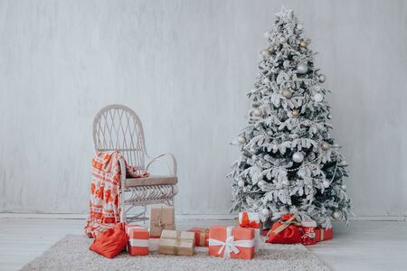 home vintage Christmas tree gifts new year