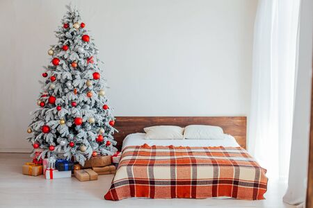 Christmas Interior bedroom house new year