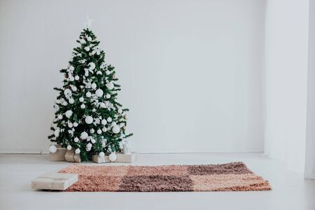 Christmas Decor white room new year tree gifts 2018 2019
