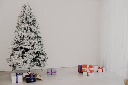 Christmas Decor White Christmas tree with gifts 1