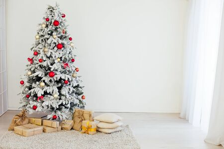 Christmas Decor White Christmas tree with gifts 1