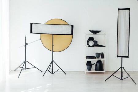Photo studio equipment flash accessories photographer 写真素材