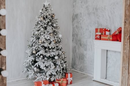 Christmas Interior home gifts new year tree
