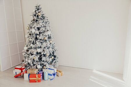 Christmas background Christmas decoration gifts toys snowflakes 2020