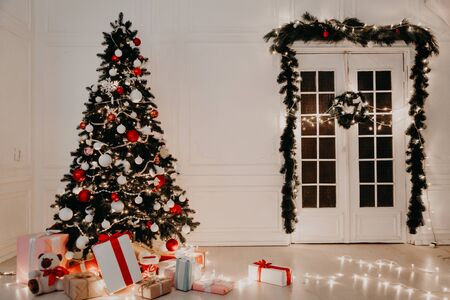 Christmas tree new year gifts Garland lights