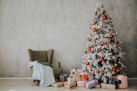 Christmas background Christmas tree new year gifts decor decoration winter