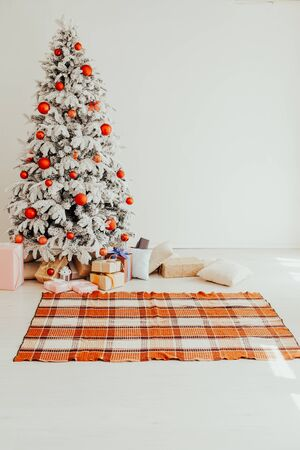 new year Christmas tree winter holiday gifts interior decor
