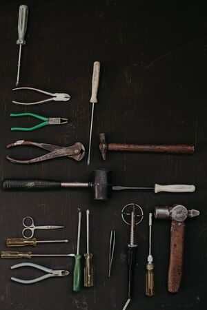different tools for repair and construction work