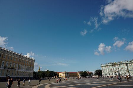 RUSSIA ST.PETERSBURG august 15.2019 Palace Square Hermitage St. Petersburg