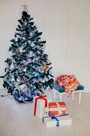 Christmas background Christmas tree new year gifts decor decoration holiday