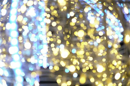 side christmas lights garland background for the new year Stock fotó