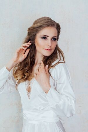 Portrait of a gentle girl in lingerie 版權商用圖片