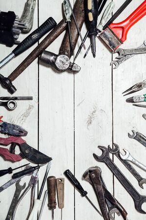 construction tools for repair hammers screwdriver drill keys