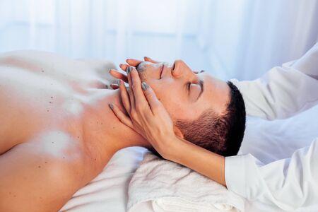 male masseur doing Massage Spa health medic