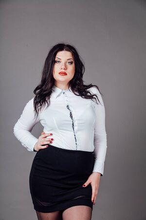 Portrait de costume d'affaires de femme d'affaires majeur Banque d'images