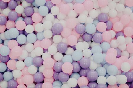 lots of multicolored round balls texture background