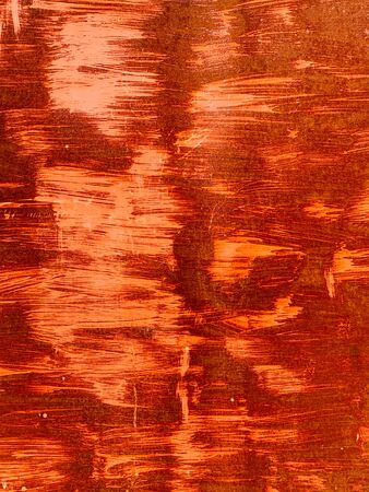Rusty vintage orange metal wall texture