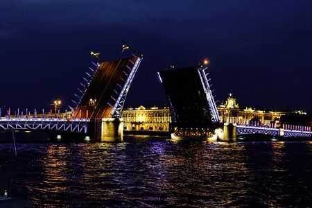 Palace bridge, the Hermitage St. Petersburg Neva River summer 20