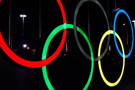 ring a symbol of Olympic Games sports competitions Sochi 01.03.18 新聞圖片
