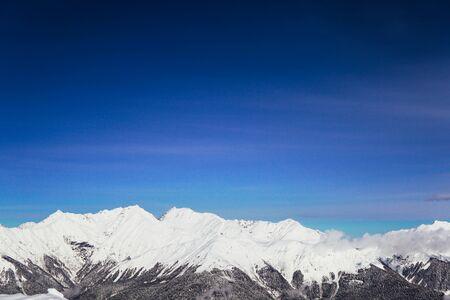 the top of Mount Snow winter ski resort