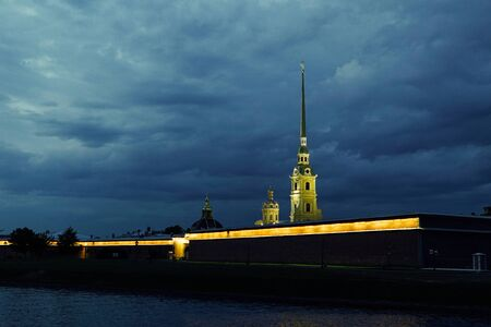 the Peter and Paul Fortress of St. Petersburg Neva River summer 新聞圖片