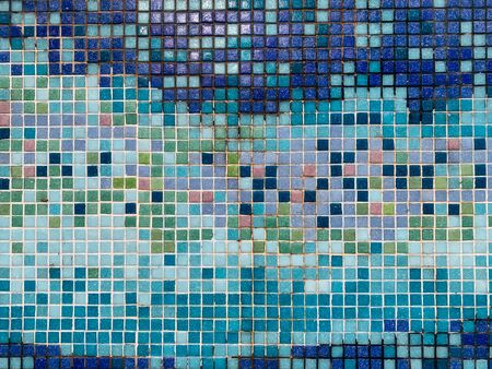 multicolored blue tile blue texture background