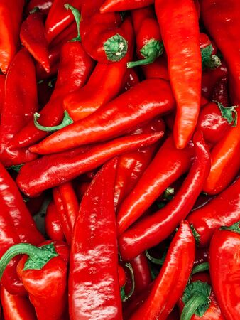 lots of red hot spice peppers for eating like a background 版權商用圖片