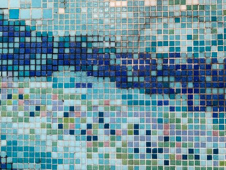 multicolored blue tile blue texture background structure 版權商用圖片