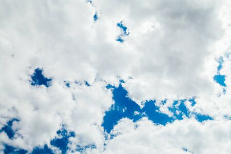 landscape sky with beautiful white clouds