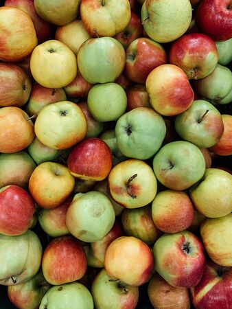 lots of ripe sweet apples background