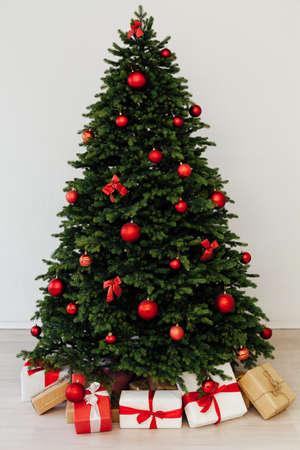 New Years Eve home Christmas tree toys holiday December Reklamní fotografie