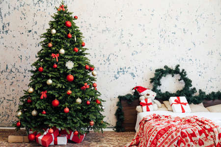 New Years Eve Home Christmas Tree Bedroom Bed Decor Gifts
