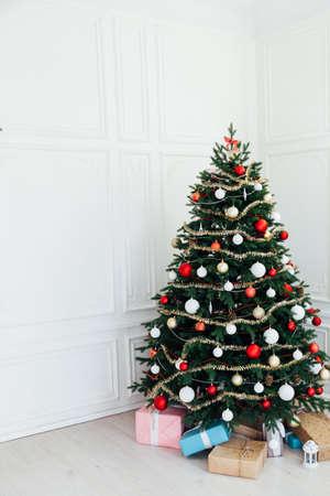New Years Eve interior Christmas tree decor presents December