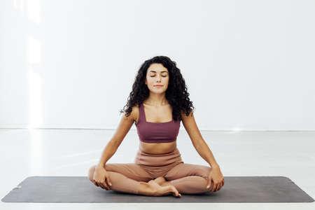 Sportswoman Yoga Asana Gymnastics Body Flexibility Fitness