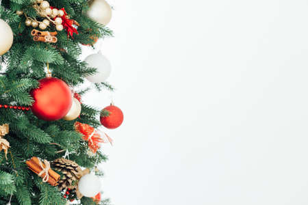 Twigs Christmas tree decor garland new year place for inscription