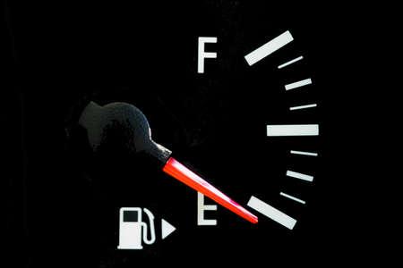 Car Fuel Gauge Showing Empty, close up Reklamní fotografie