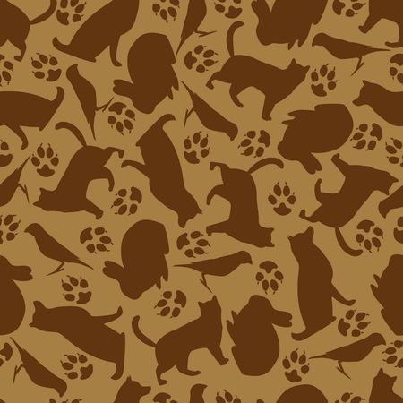Pattern of pets Ilustracja