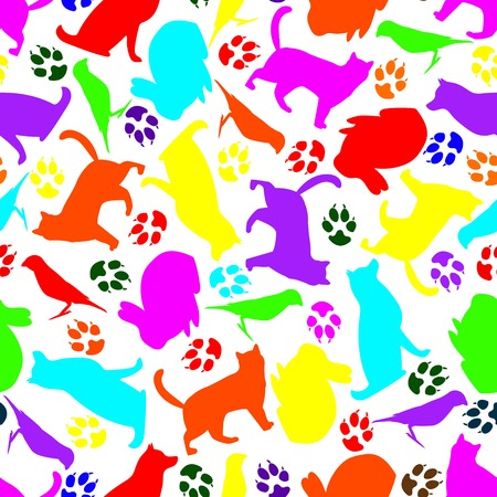Photoframe from silhouettes of pets. Frame design for pets Ilustracja